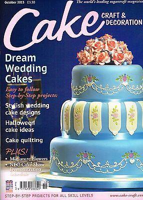 CAKE CRAFT & DECORATION Magazine October 2013 Halloween Wedding Cakes @NEW@