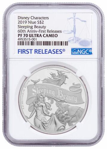 2019 Niue Disney Classics Sleeping Beauty 1 oz Silver $2 NGC PF70 UC FR SKU56953