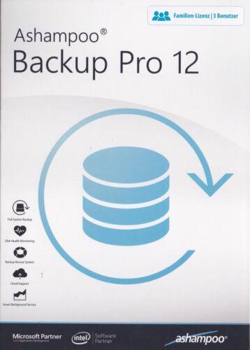 Ashampoo Backup Pro 12 - Familien Lizenz / 3 Benutzer - PC CD ROM