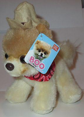 Gund Itty Bitty Boo Cowboy Hat Bandana Costume  016 Plush Toy Stuffed Animal Nwt