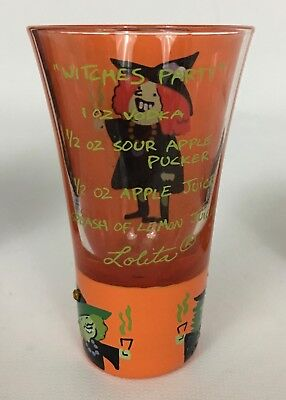 Halloween Recipe Shots (Lolita Party Shots Witches Party 2 Oz Hand Painted Shot Glass Halloween W)