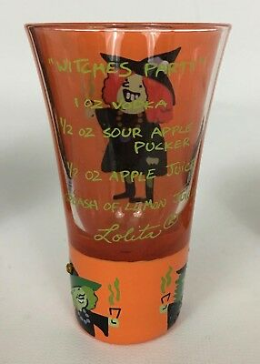 Lolita Party Shots Witches Party 2 Oz Hand Painted Shot Glass Halloween W Recipe - Halloween Shot Recipe