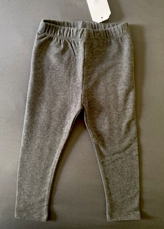 Toddler Girl 18-24 Month Baby Gap Charcoal Gray Soft Cozy Winter Leggings