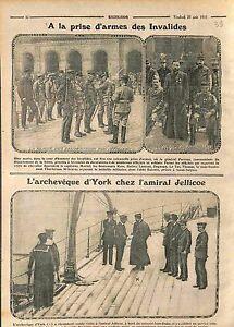 """Paris Prise d'Armes des Invalides Général Parreau/Admiral John Jellicoe WWI 1915 - France - Commentaires du vendeur : """"OCCASION"""" - France"""