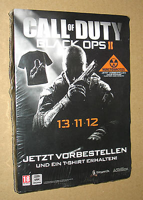 Call of Duty Black OPS II rare promo T-Shirt size L PlayStation 3 Xbox 360 Wii