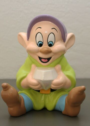 Disney Dopey Ceramic Coin Bank Piggy Bank Snow White and The Seven Dwarfs