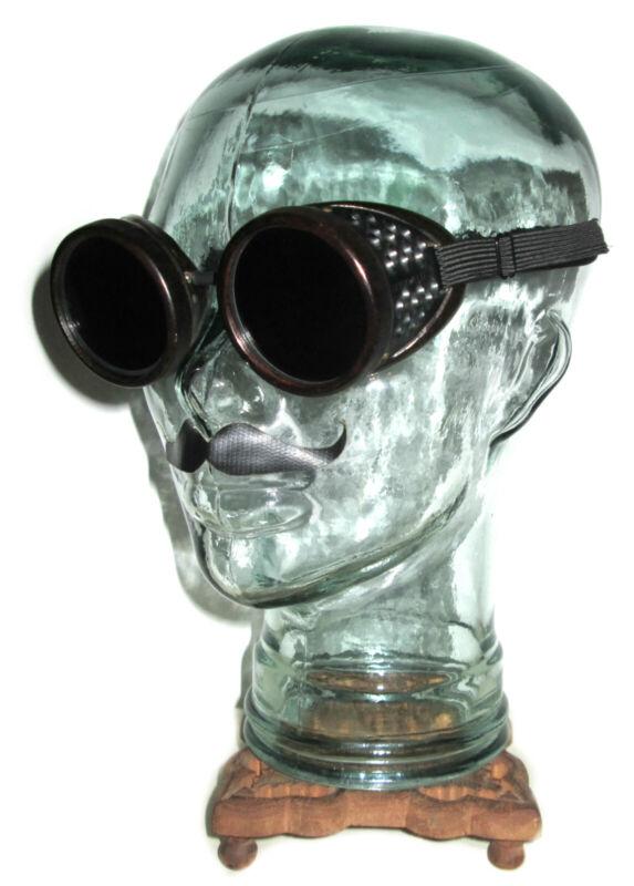 Antique American Optical Duraweld Goggles Vtg Old AO Bakelite Safety Glasses