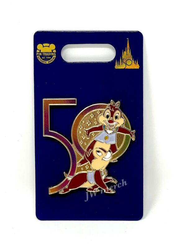 Walt Disney World 50th Anniversary Chip And Dale Pin NEW