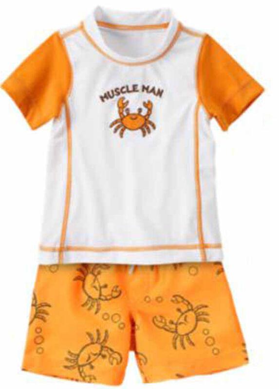 Gymboree Baby Boy Swim Shop Sets RashGuard Trunks 1 Piece 0 3 6 18 24 Mos NWT