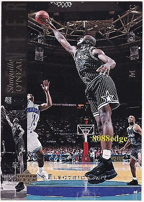 "1993-94 UPPER DECK SE ELECTRIC COURT: SHAQUILLE O'NEAL #32 ""SHAQ""- MAGIC ALL-NBA"