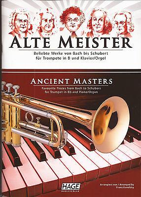 Trompete Klavier Orgel - ALTE MEISTER - BELIEBTE WERKE - VON BACH bis SCHUBERT