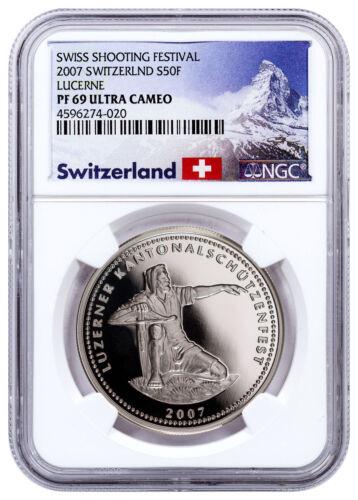 2007 Switzerland Shooting Festival Thaler Lucerne Silver NGC PF69 UC SKU48961