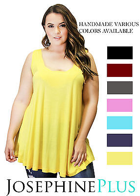 HANDMADE Plus Size Top Unique Solid Sleeveless Womens Blouse New Sezy Summer  - Sezy Woman