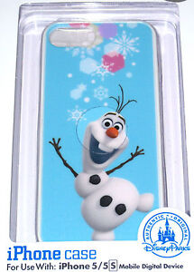 LE NEW D-Tech Walt Disney World Authentic✿iPhone 5 5S Case✿Frozen Elsa Anna Olaf