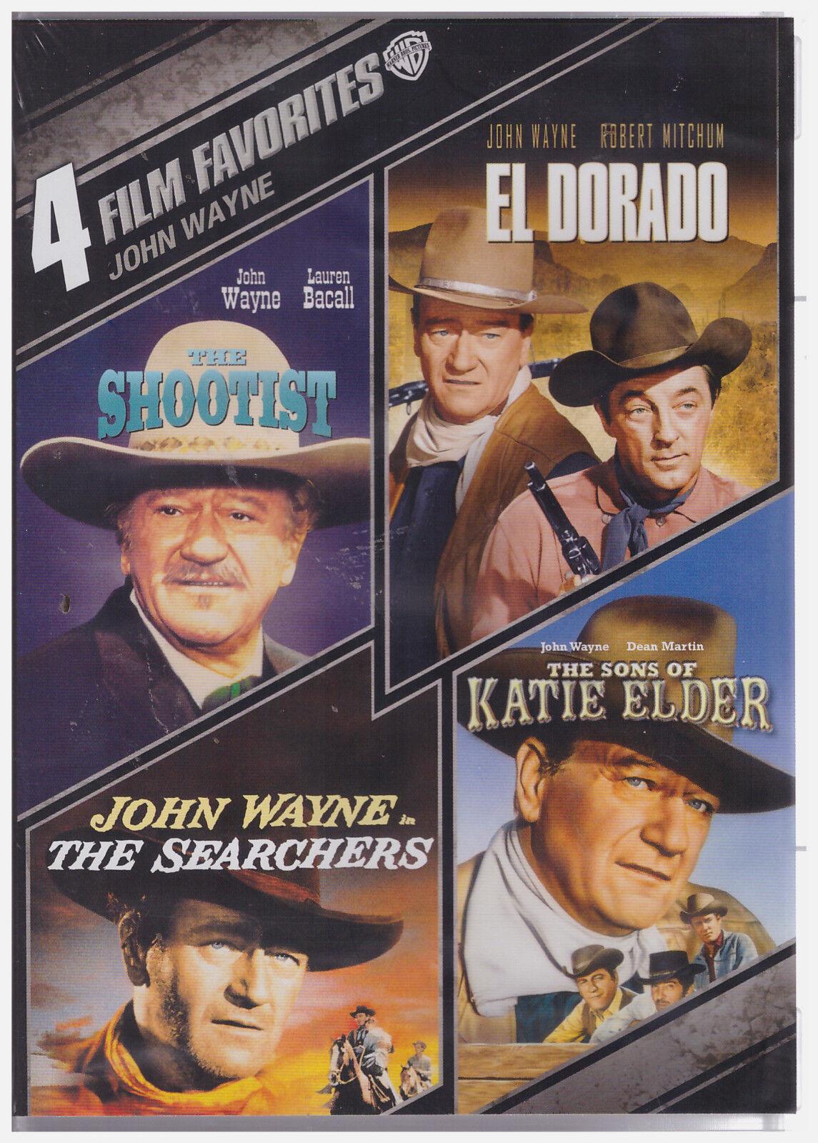 4 FILM FAVORITES JOHN WAYNE WESTERNS (DVD, 2013, 4-Disc Set) NEW