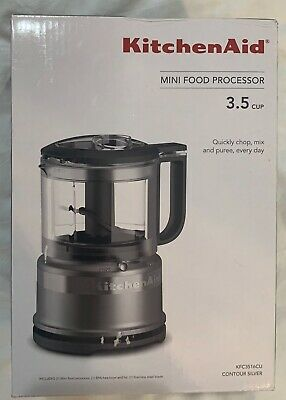 Brand New KitchenAid 3.5 Cup Mini Food Processor Contour Silver