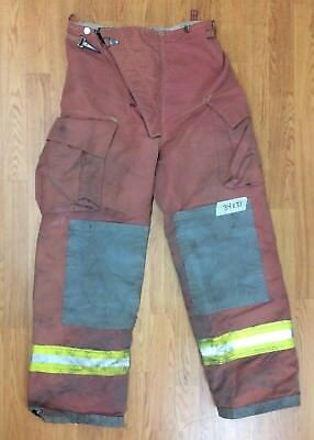 Firefighter Red Bunker Turnout Pants 34 X 31 Quest