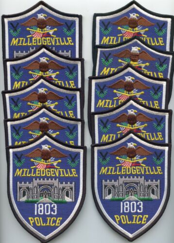 MILLEDGEVILLE GEORGIA Patch Lot Trade Stock 10 Police Patches POLICE PATCH