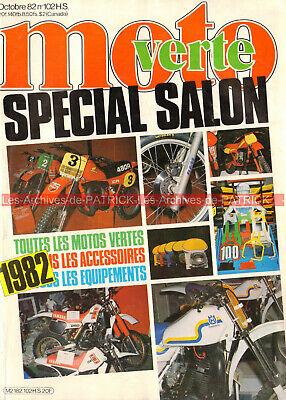 Moto verte hs 102 spécial salon motos tout terrain cross enduro trial trail 1982