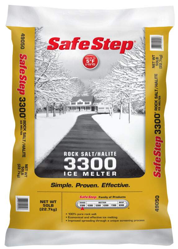 Safe Step 49050 50 Lb Poly Bag Rock Salt/Halite 3300 Ice Melter, PartNo 49050, b