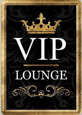 Nostalgic Art Blechpostkarte Vip Lounge Very Important People Wichtige Leute