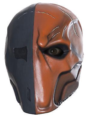 Deathstroke Deluxe Mask Slade Wilson Arrow Batman Adult Halloween Costume (Deathstroke Mask Halloween)