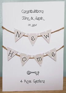 New Home / Housewarming, Hand Crafted Premium 300 gsm Card(Personalised)