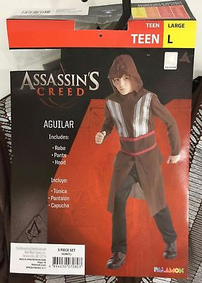 Assassin's Creed Aguilar Teen Boys Large Costume Large NWT 3 Pc Brown Red Silver
