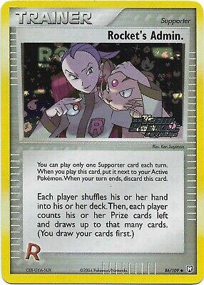 Pokemon Reverse Foil Card : Rocket's Admin 86/109 : (Ex Team Rockets Returns)