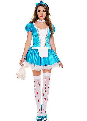 Sexy Adult Halloween Grimm Fairy Tales Return to Wonderland Alice Liddle Costume](Halloween Fairy Tales Costumes)
