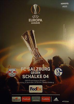 Programm UEFA EL 2016/17 FC Salzburg - FC Schalke 04