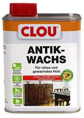 Lösung Holz (Clou Antikwachs W2 0,75L Bienenwachslösung Bienenwachs Wachs Holz Möbel)