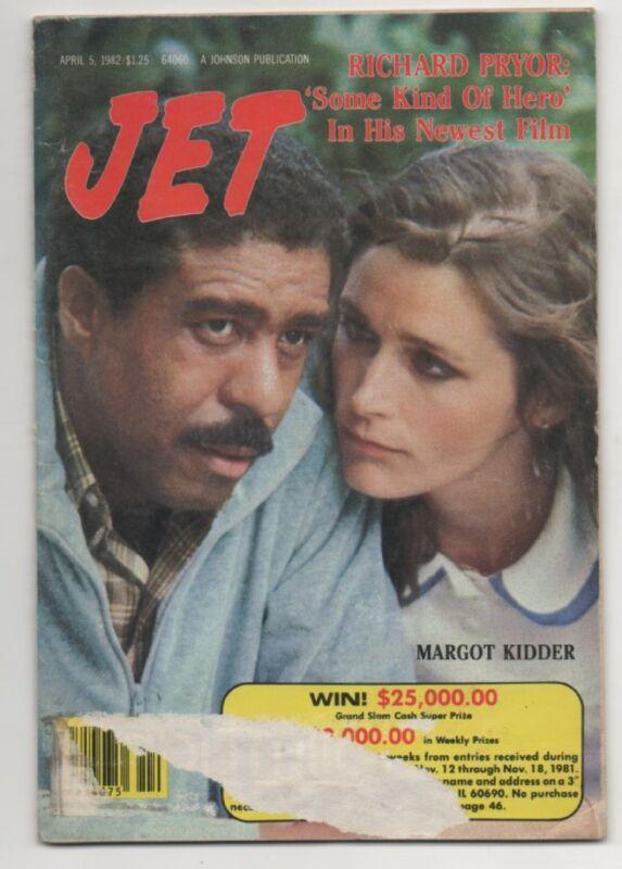 Jet MagazIne Aprill 5th 1982  Richard Pryor/ Margot Kiddler Cover