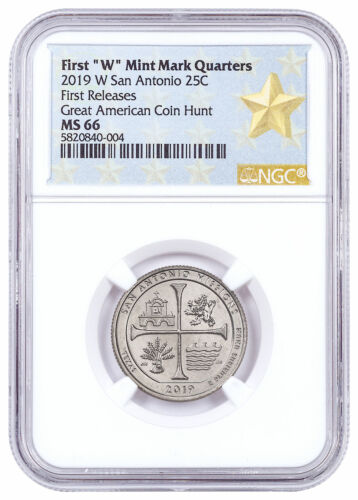 2019 W Clad America Beautiful San Antonio Missions Quarter NGC MS66 FR SKU59316
