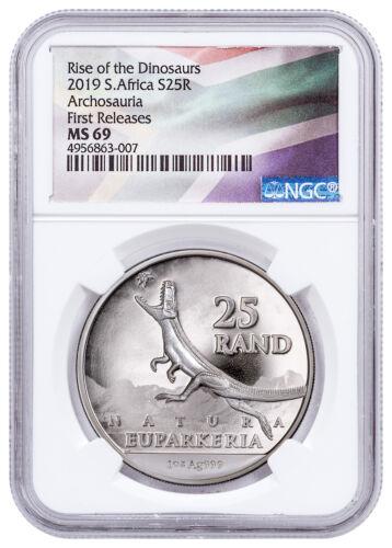 2019 South Africa Natura Euparkeria Archosauria 1 oz Silver NGC MS69 FR SKU57568