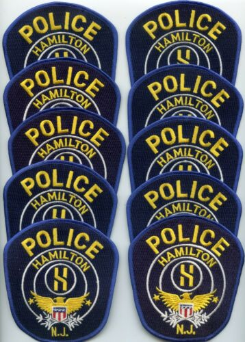 HAMILTON NEW JERSEY Patch Lot Trade Stock 10 Police Patches POLICE PATCH