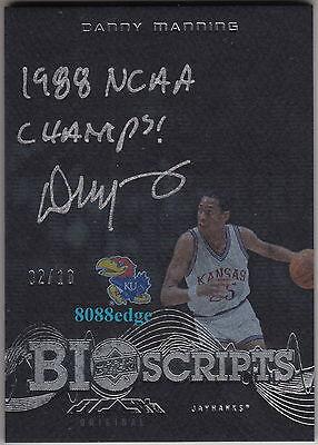 2013 14 Ud Black Bio Scripts Auto  Danny Manning  2 10 Inscription Autograph