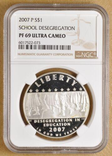 2007 Little Rock Desegregation Commemorative Silver Dollar NGC PF 69 Ultra Cameo