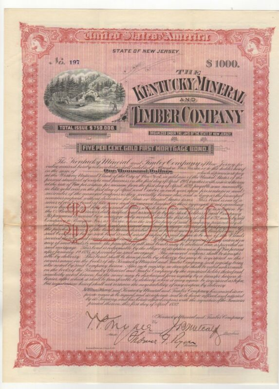 B. Ives & T. Ryan - The Kentucky Mineral and Timber Co. Bond