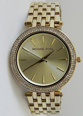 Michael Kors Women's MK3191 Darci Glitz Gold Dial Pave Bezel Gold-tone Watch