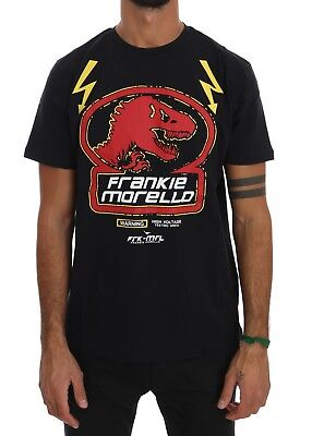 NEW $110 FRANKIE MORELLO T-shirt Black Cotton Dinosaur Short Sleeve Top s. XL