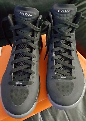 Nike Zoom HYPERDUNK 2011 BLAKE GRIFFIN TRIPLE BLACK  Mens Size 8 1/2