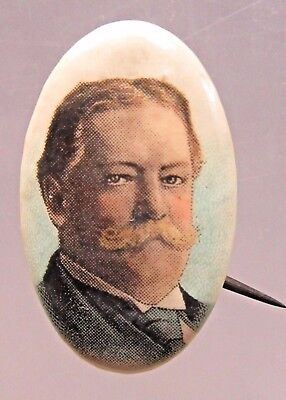 TAFT looking to the side President color OVAL pinback button +