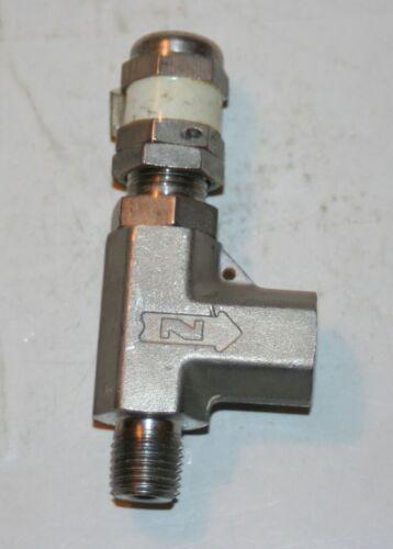 "1/4"" NPT 316ss Adjustable Pressure Relief Valve Nupro"