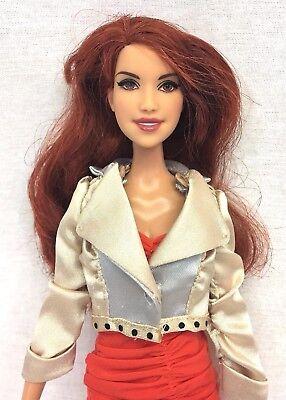 Barbie Stardoll Red Hair Bonjour Bisou Rooted Lashes Star Doll Orange Dress 2010
