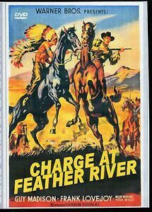 CHARGE AT FEATHER RIVER, THE - GUY MADISON RARE WESTERN  ALL REGION DVD