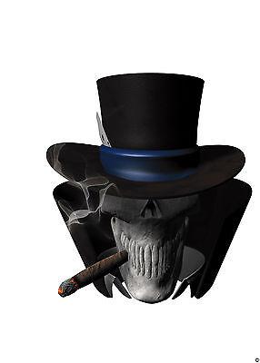 """Golf Cart 19"""" Ace of Spade Hood Graphics Decal EXGO Club Car Yamaha Skull Skulls"""