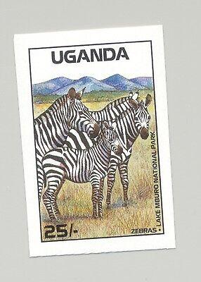 Uganda #638 Zebras, Animals 1v Imperf Proof