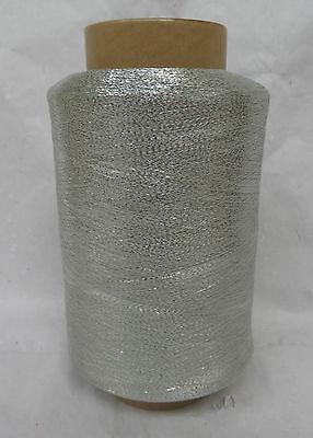 0433 Nm 105 Lurex  SILBER Stricken, Garn, Wolle, Weben,Beilauffaden,Basteln
