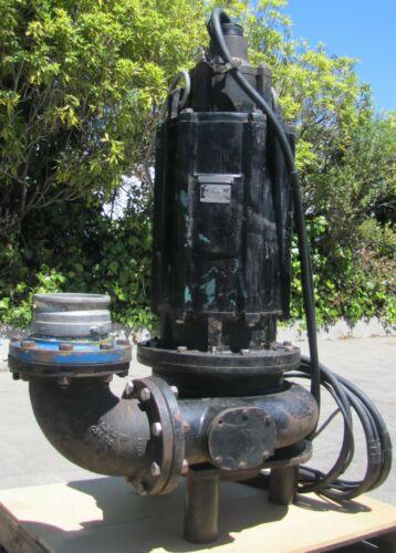 "Hertz 6"" Submersible Sump Pump 50hp water trash 460V 3 Phase"